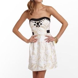 Lilly Pulitzer Christine Gold Holiday Bead Dress